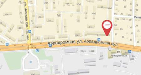 1 карта  Аэродромная