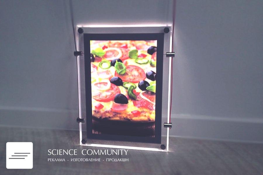 Новинка интерьерной рекламы! Шикарные световые кристалайты можно использовать не только в интерьере, данная конструкция служит и  наружной рекламой. Существуют настенные, подвесные,  двусторонние и круглые кристалайты.